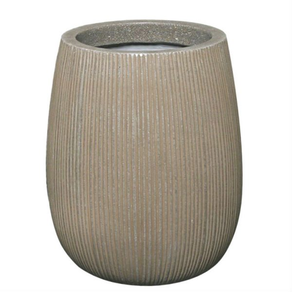 Potte stone vertical ficonstone gråbrun Ø33xH40cm
