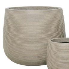 Potte stone horizontal ficonstone gråbrun Ø55xH49cm