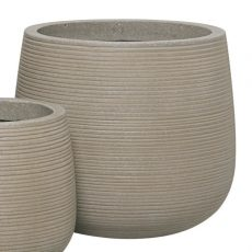 Potte stone horizontal ficonstone gråbrun Ø40xH36cm