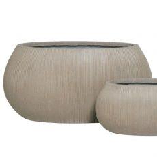 Potte stone oval ficonstone gråbrun L72xB36xH35cm