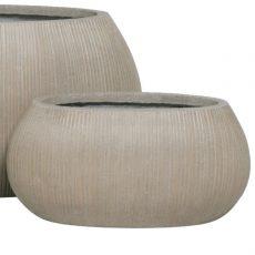 Potte stone oval ficonstone gråbrun L46xB23xH22cm