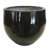 Potte glaminita ficonstone varm sort glasert Ø25xH21cm