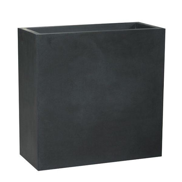 Potte rex fiberstone rektangel sort L95xB38xH72cm