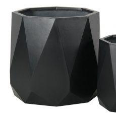Potte prisme light fiber concrete sort Ø55xH49cm