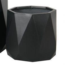 Potte prisme light fiber concrete sort Ø43xH37cm