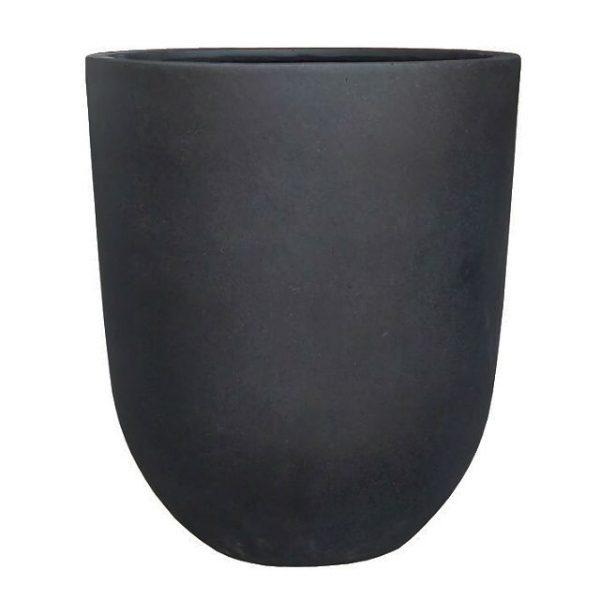 Potte TL rund poly sort Ø50xH57cm