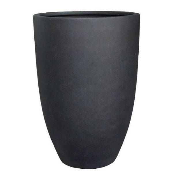 Potte TL høy poly sort Ø40xH57cm