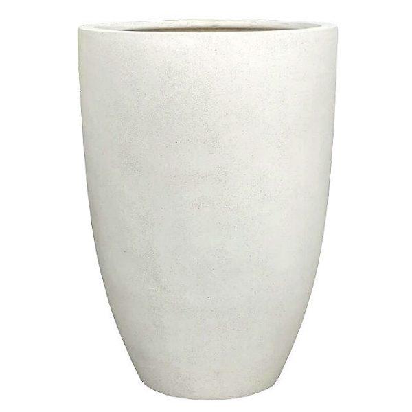 Potte TL høy poly hvit Ø50xH70cm