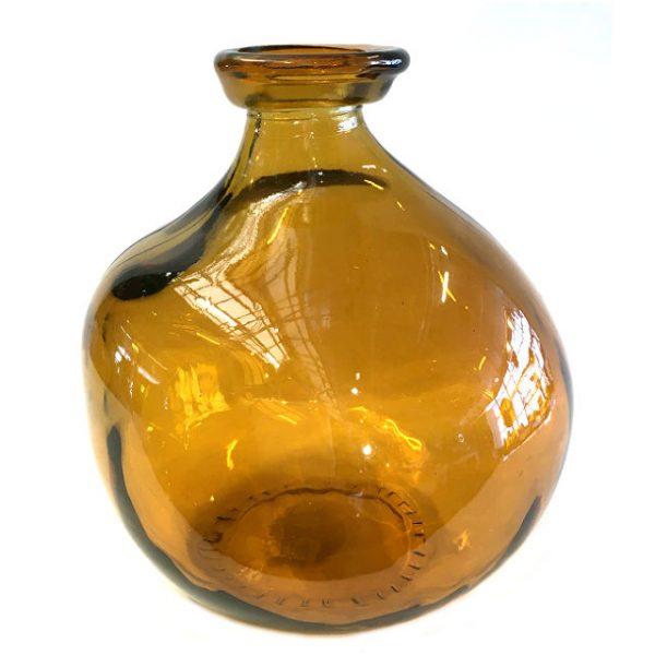 Glassvase karamell H18cm