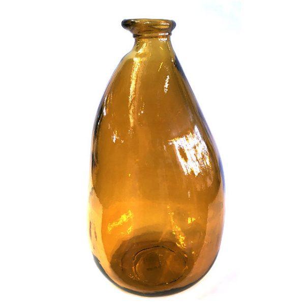 Glassvase karamell H36cm