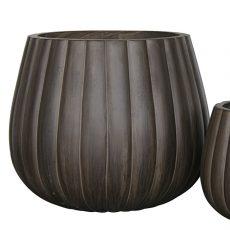 Potte pumpkin rund ficonstone brunsort Ø56xH48cm