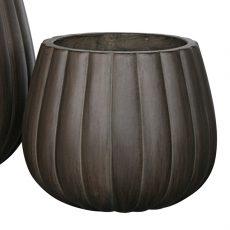 Potte pumpkin rund ficonstone brunsort Ø36xH30cm