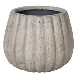 Potte pumpkin rund ficonstone brunbeige Ø56xH48cm