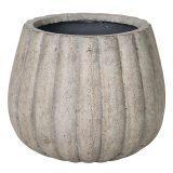 Potte pumpkin rund ficonstone brunbeige Ø36xH30cm