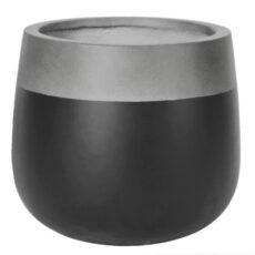 Potte edge matt ficonstone grå/sort Ø55xH48cm