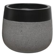 Potte edge matt ficonstone sort/gråmelert Ø55xH48cm