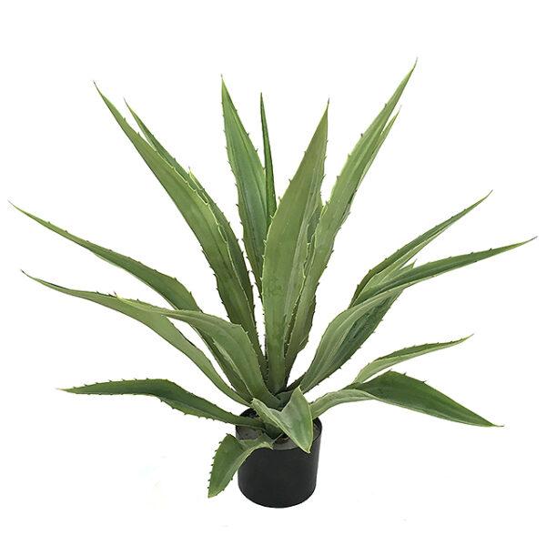 Kunstig aloehola plante grønn H70cm