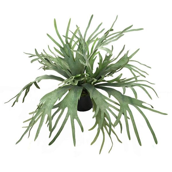 Kunstig hjortebregne plante grønn H70cm