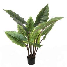 Kunstig taro plante grønn/rød H120cm