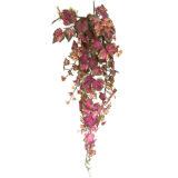 Kunstig villvin hengeplante purpur 130cm u/potte