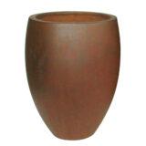 Potte cone rust ficonstone rødbrun Ø35xH46cm
