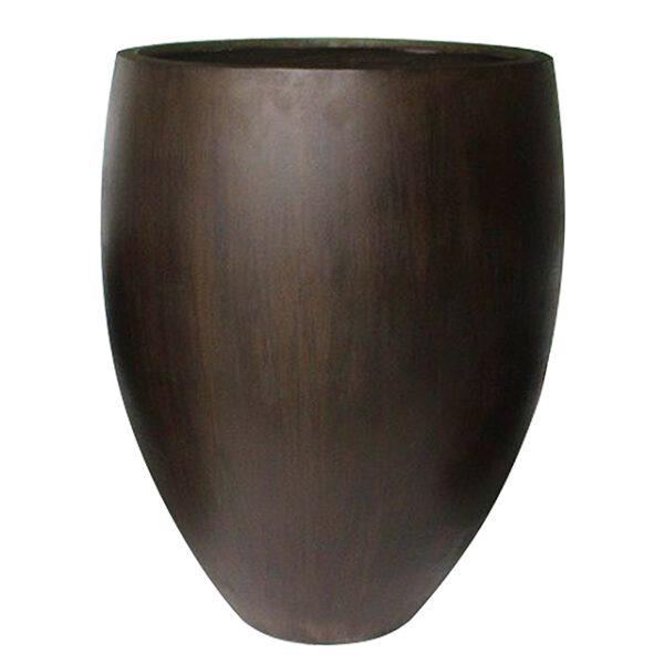 Potte cone sjokko ficonstone brunsort Ø35xH46cm