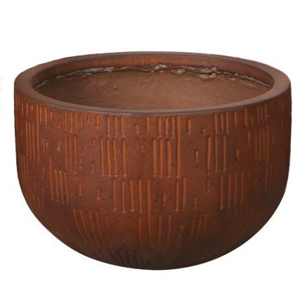 Potte etching bowl ficonstone rødbrun Ø44xH26cm