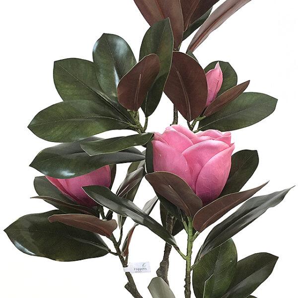 Kunstig magnoliatre Sunniva cerise H120cm