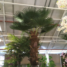 Kunstig palme vifte rett UV H350cm m/monteringsplate