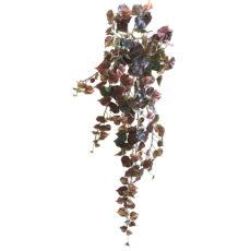 Kunstig cotton hengeplante burgunder L100cm u/potte